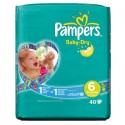 40 Couches Pampers Baby Dry taille 6 sur Sos Couches