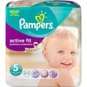 48 Couches Pampers Active Fit taille 5 sur Sos Couches
