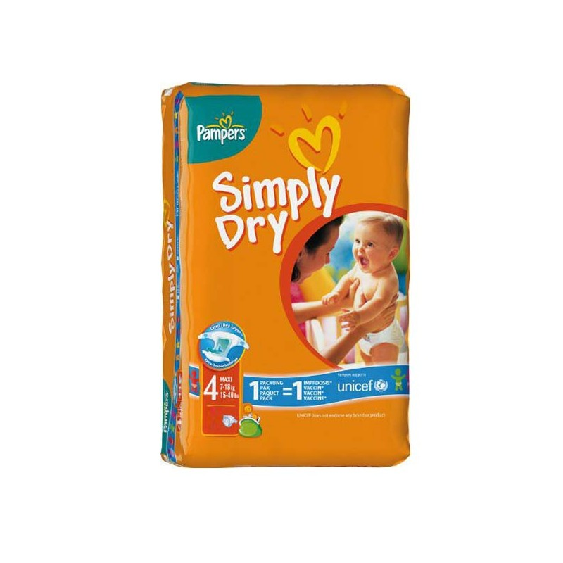 Achat 46 couches pampers simply dry taille 4 bas prix sur sos couches - Prix couche pampers allemagne ...