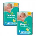 208 Couches Pampers Active Baby Dry taille 4 sur Sos Couches