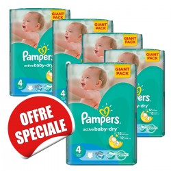 234 Couches Pampers Active Baby Dry taille 4