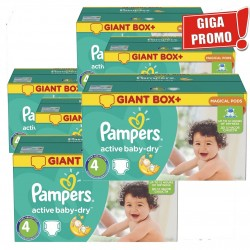 273 Couches Pampers Active Baby Dry taille 4