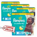 390 Couches Pampers Active Baby Dry taille 4 sur Sos Couches