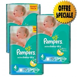 546 Couches Pampers Active Baby Dry taille 4