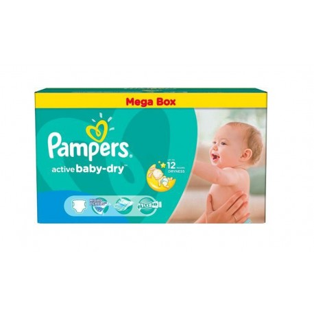 559 Couches Pampers Active Baby Dry taille 4 sur Sos Couches