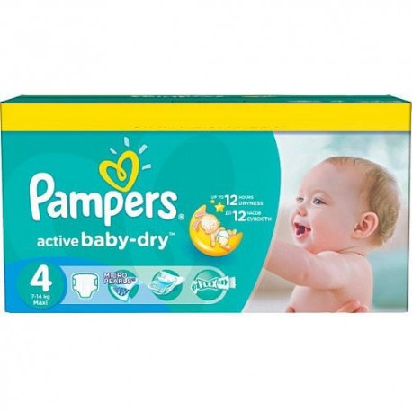 585 Couches Pampers Active Baby Dry taille 4 sur Sos Couches
