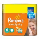 124 Couches Pampers Simply Dry taille 6 sur Sos Couches