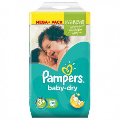Achat 60 couches pampers baby dry taille 3 pas cher sur - Couches pampers baby dry taille 3 ...
