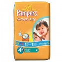 44 Couches Pampers Simply Dry 4+ sur Sos Couches