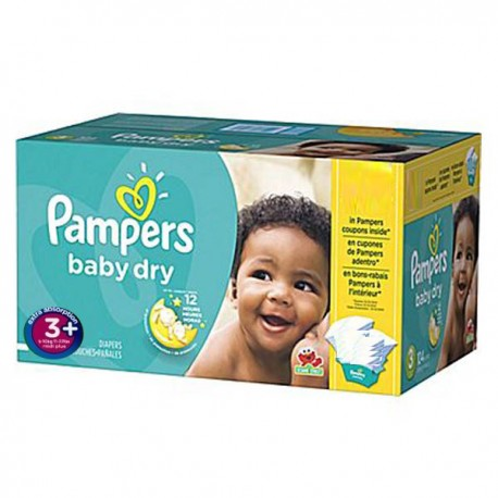 68 Couches Pampers Baby Dry taille 3+ sur Sos Couches