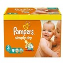 56 Couches Pampers Simply Dry 3 sur Sos Couches