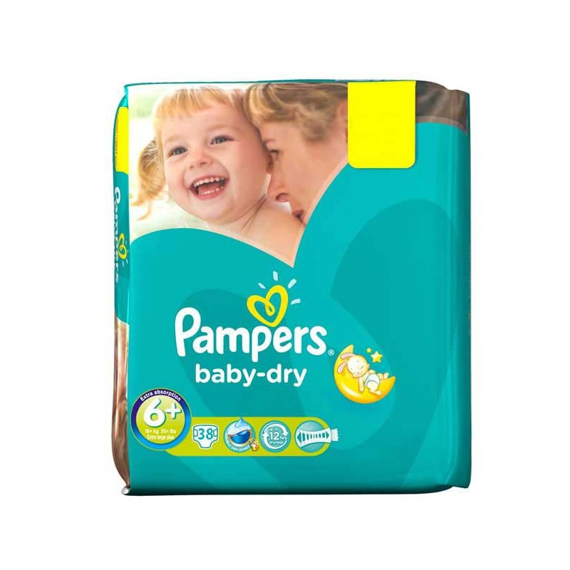 Achat 38 couches pampers baby dry taille 6 moins cher sur - Achat couches pampers en gros pas cher ...