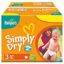 280 Couches Pampers Simply Dry 3