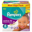 172 Couches Pampers Active Fit taille 6 sur Sos Couches