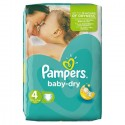 62 Couches Pampers Baby Dry 4 sur Sos Couches