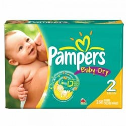693 Couches Pampers Baby Dry taille 2
