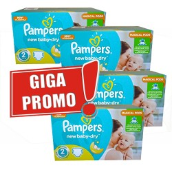 330 Couches Pampers New Baby Dry taille 2