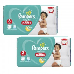 338 Couches Pampers Baby Dry Pants taille 3