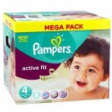 256 Couches Pampers Active Fit Pants taille 4 sur Sos Couches
