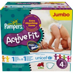 320 Couches Pampers Active Fit Pants taille 4