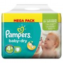 42 Couches Pampers Baby Dry 4+ sur Sos Couches