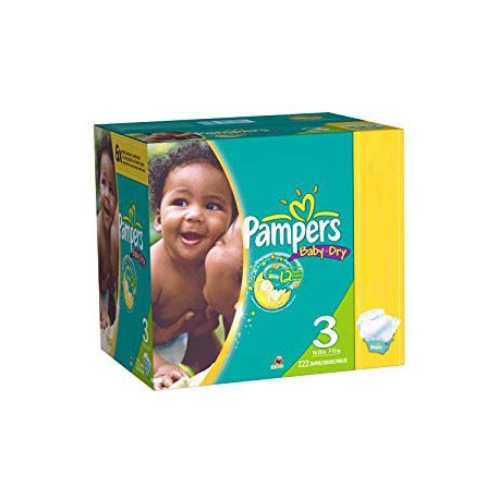 280 Couches Pampers Baby Dry taille 3 sur Sos Couches