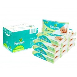 768 Lingettes Bébés Pampers Natural Clean