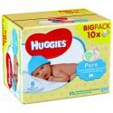 30 Lingettes Bébés Huggies Pure sur Sos Couches
