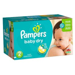 396 Couches Pampers Baby Dry 2