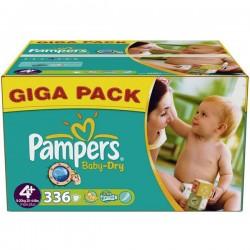 336 Couches de la marque Pampers Baby Dry de taille 4+ sur Sos Couches