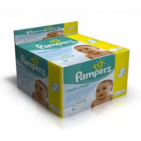 768 Lingettes Bébés Pampers Fresh Clean sur Sos Couches