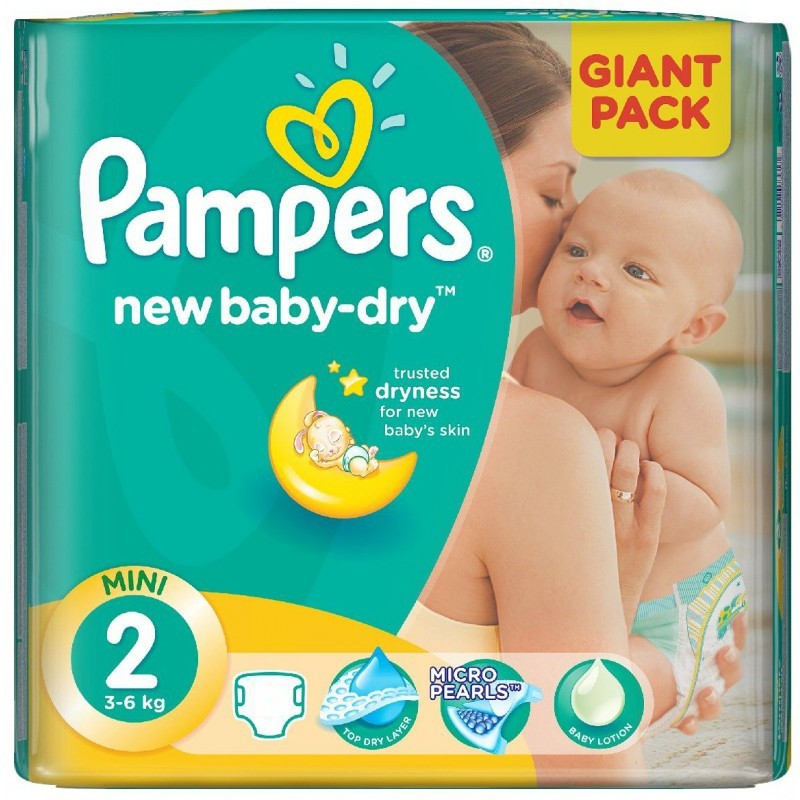 Achat 80 couches pampers new baby dry taille 2 pas cher sur sos couches - Couches pampers new baby pas cher ...