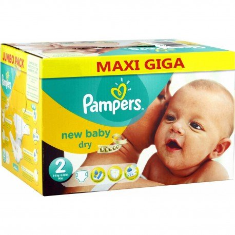 80 Couches Pampers New Baby taille 2 sur Sos Couches