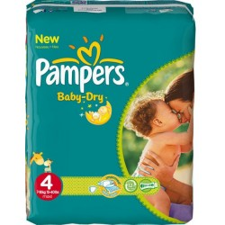 46 Couches Pampers Baby Dry 4