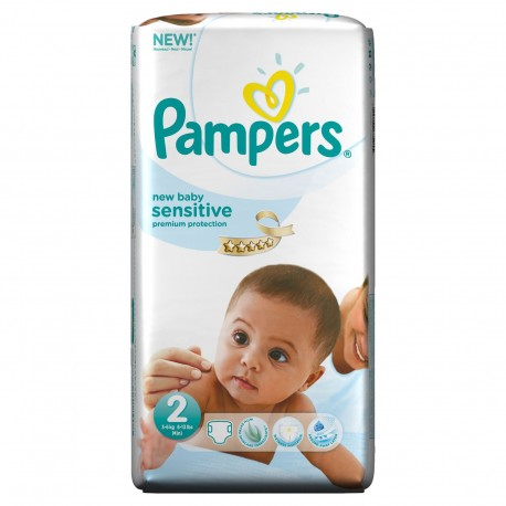 60 Couches Pampers New Baby Sensitive taille 2 sur Sos Couches