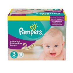 123 Couches Pampers Active Fit 3