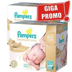 1012 Couches de Pampers Premium Care de taille 1 sur Sos Couches