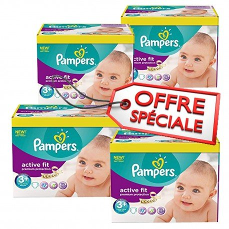 560 Couches Pampers Active Fit 3+ sur Sos Couches