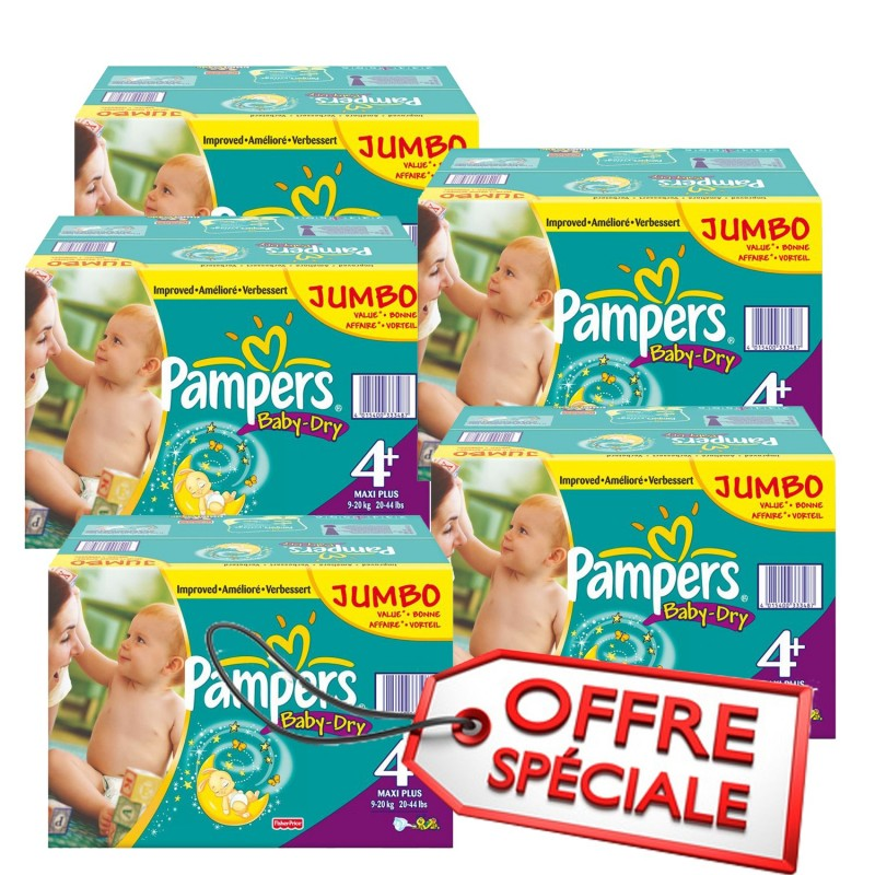 Achat 1008 couches pampers baby dry taille 4 pas cher sur - Achat couches pampers en gros pas cher ...