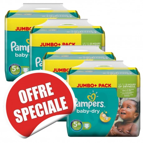 731 Couches Pampers Baby Dry taille 5+ sur Sos Couches