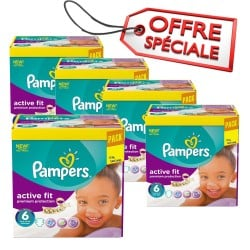 576 Couches Pampers Active Fit de taille 6 sur Sos Couches
