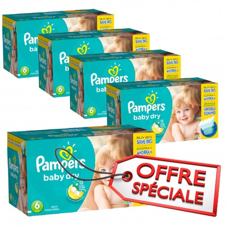 627 Couches Pampers Baby Dry taille 6 sur Sos Couches