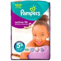 40 Couches Pampers Active Fit taille 5+ sur Sos Couches
