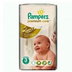 56 Couches Pampers de la gamme Premium Care Pants taille 3 sur Sos Couches