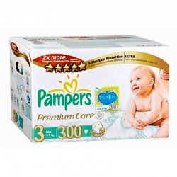 336 Couches Pampers Premium Care Pants taille 3