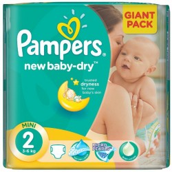 68 Couches Pampers New Baby Dry taille 2