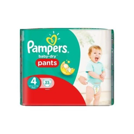23 Couches Pampers Active Baby Dry taille 4 sur Sos Couches