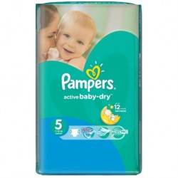 58 Couches Pampers Active Baby Dry taille 5 sur Sos Couches