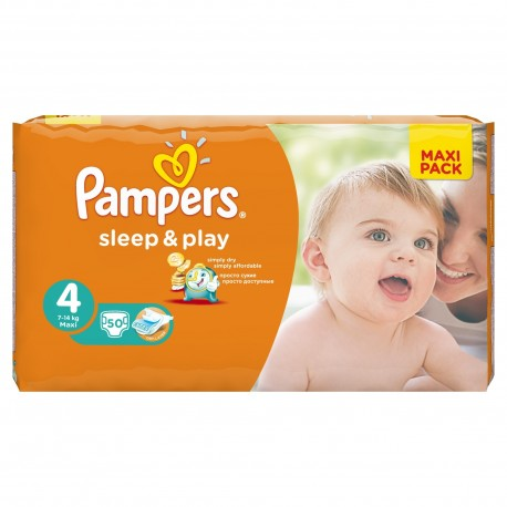 50 Couches Pampers Sleep & Play taille 4 sur Sos Couches