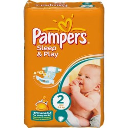 18 Couches Pampers Sleep & Play de taille 2 sur Sos Couches